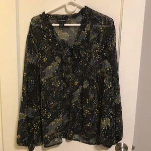 Lane Bryant sheer floral top